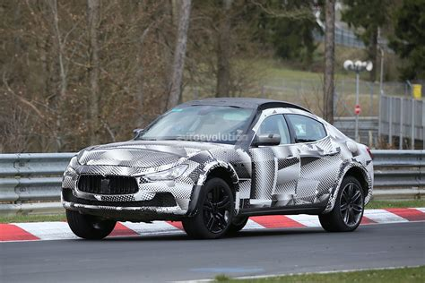 porsche maserati 2016 maserati levante suv hits the nurburgring out for