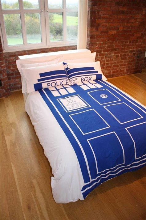 tardis bed new doctor who tardis police box king size duvet quilt