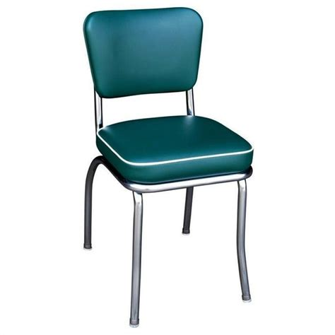 Retro Chrome Dining Chairs Richardson Seating Retro 1950s Chrome Diner Dining Chair Green