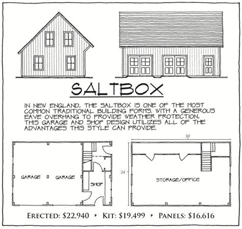 saltbox garage plans saltbox vermont frames