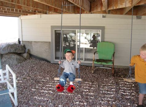 swing under deck kids swing for under deck the young mom pinterest