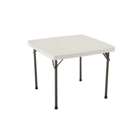 Lifetime Products 37 Inch Square Card Table Almond Home Depot Card Table