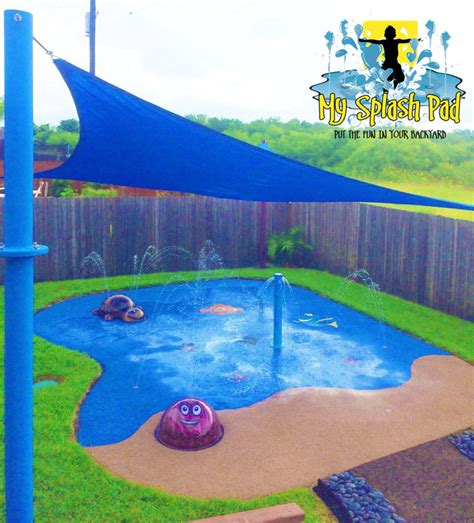 how to make a backyard splash pad disney finding nemo themed backyard residential splash pad