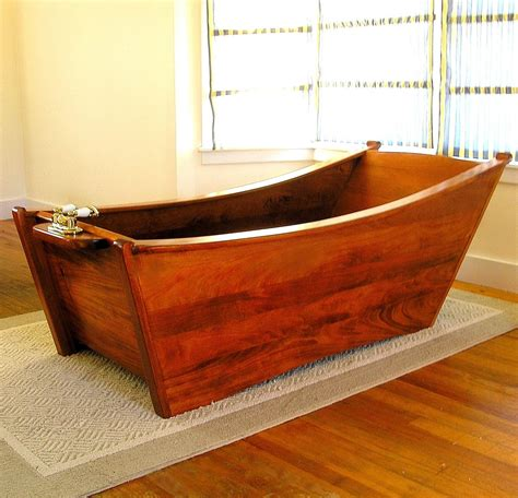 Deep Soaker Bathtubs Hand Crafted Wooden Bathtub For One Person By Bath In Wood