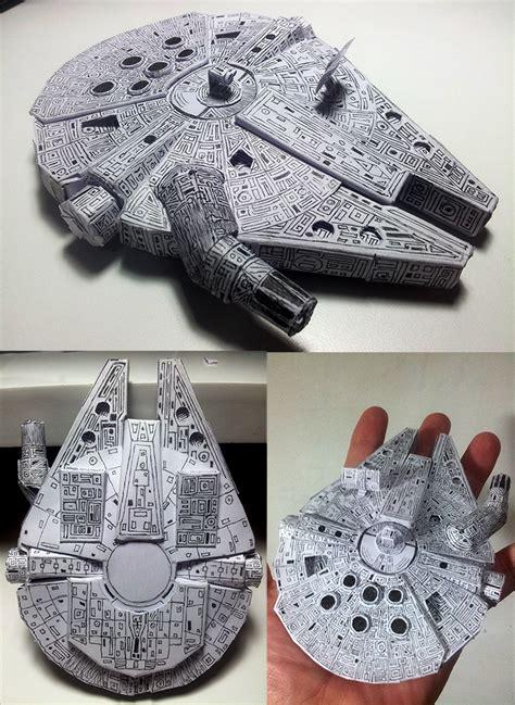 Millennium Falcon Papercraft - millennium falcon papercraft by pandaforge on deviantart