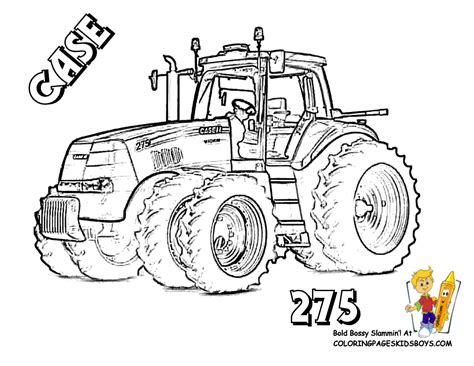 tractors to print coloring pages