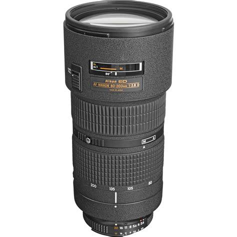 nikon af zoom nikkor 80 200mm f 2 8d ed lens 1986 b h photo