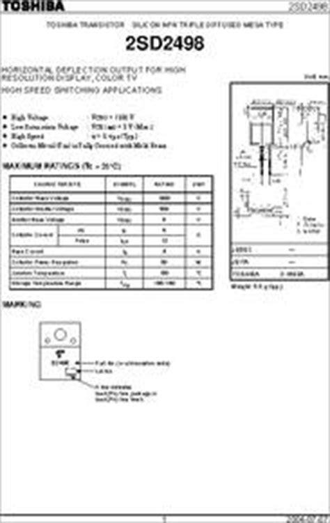 data transistor d2498 d2498 datasheet horizontal deflection output for high resolution display
