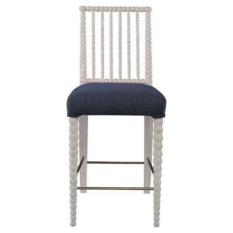 Navy Counter Stools by Haight Modern White Bead Counter Stool Navy Blue Linen