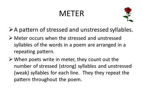 image pattern literary terms a unit on types of poetry and literary terms ppt video