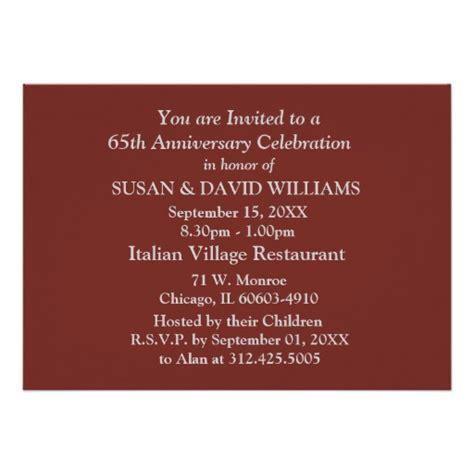 65th wedding anniversary invitations 65th wedding anniversary invitation card ladyprints
