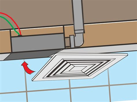 how to wire bathroom fan how to install a bathroom fan with pictures wikihow