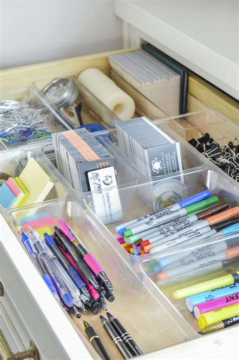 Desk Organization Supplies Organized And Functional Office Supply Drawers Kelley Nan