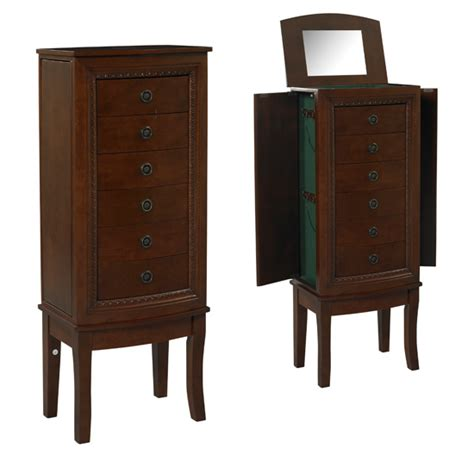 jewelry vanity armoire linon jewelry armoires and vanity sets