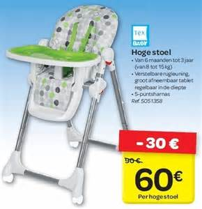 carrefour promotion hoge stoel tex baby chaise haute