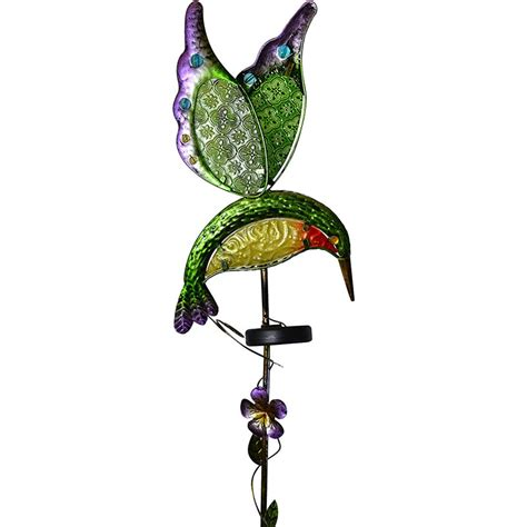 moonrays solar hummingbird stake light