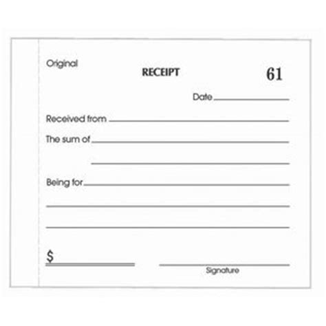 Olympic No.714 Carbonless Duplicate Cash Receipt Book