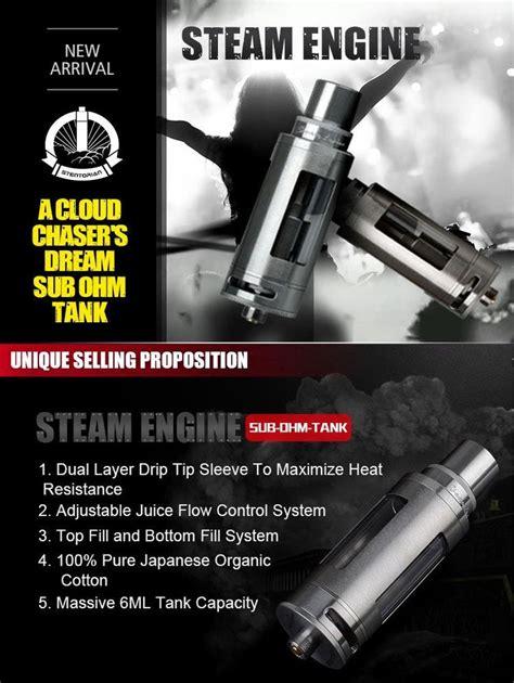 authentic wotofo steam engine atomizer ml top refilling  ohm tank  thread ohm ohm