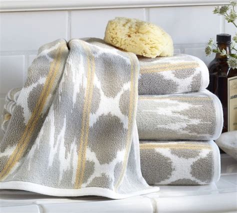yellow patterned bath towels dylan ikat jacquard bath towels contemporary bath