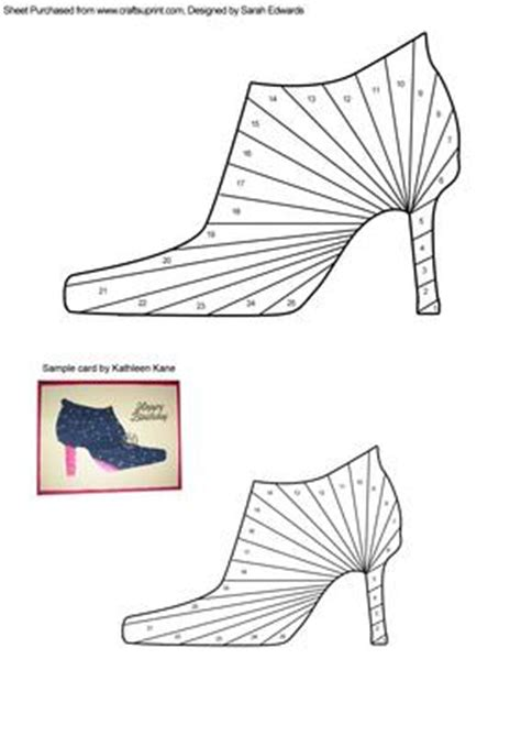 high heel template for cards high heeled shoe iris folding pattern cup244721 172