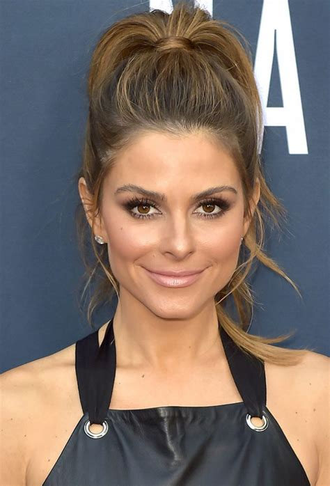 hottest ponytail hairstyles from celebrities trendy hairstyles 2017 maria menounos vy in leather and stuart weitzman