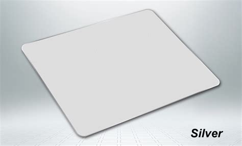 Metal Mouse Pad Rubber 300 X 240 X 3mm Silver T0210 1 custom metal mouse pads with different size x raypad