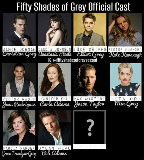 the fifty shades 2013 fifty shades of grey official cast as of december 5 2013