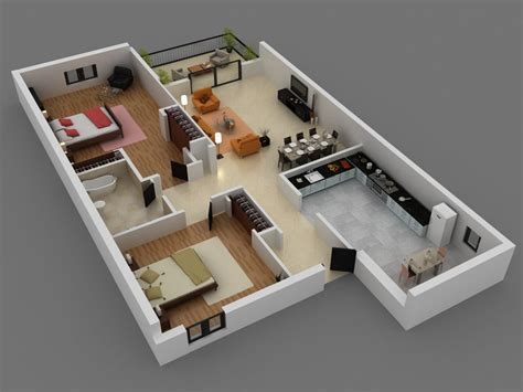 Two Bedroom House Interior Design 2 Bedroom House Interior Designs