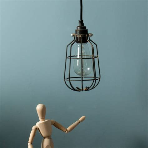 Industrial Cage Ceiling Light by Drop Industrial Ceiling Light Cage Shade By Dowsing
