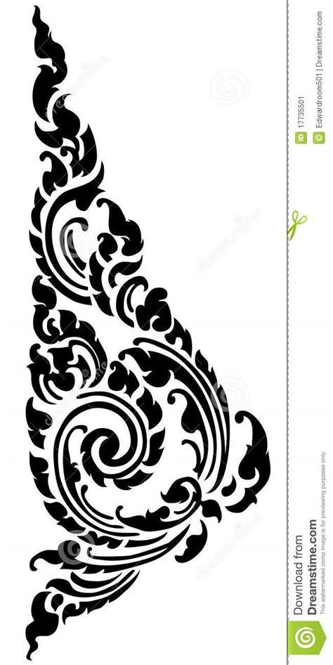 Thai Black Pattern Stock Image - Image: 17735501