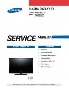 samsung hpt4254x xaa hpt5054x xaa tv service repair manual