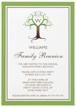 Family Reunion Invitation Card Templates by Family Reunion Invitations Tree Family Reunion