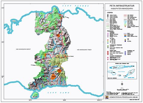 peta kota peta kabupaten manggarai