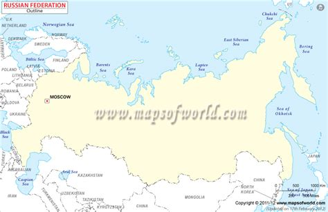 russian capital cities map blank map of russia russia outline map