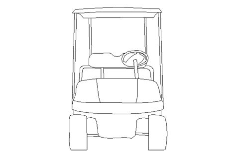 Carro De Golf Autocad by Golf Cart Drawing Www Imgkid The Image Kid Has It