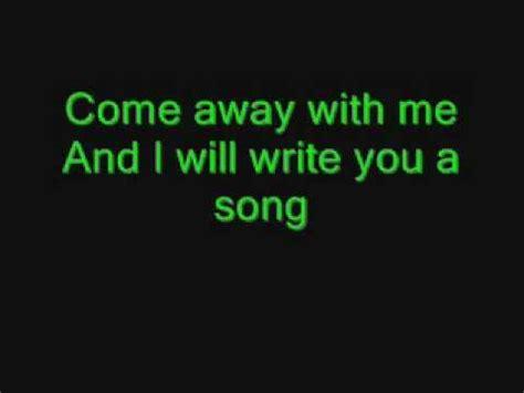 Come Away With Me To A Place Lyrics Norah Jones Come Away With Me Wmv Lyrics Letras