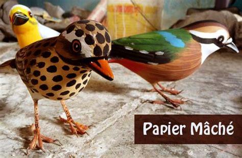 How To Make Paper Mache Birds - some chirrups from wilderness robin