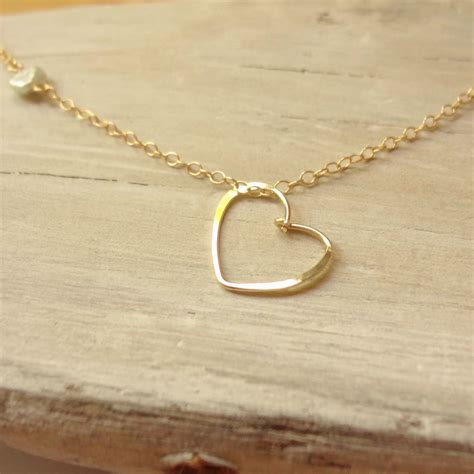 gold necklace handmade floating necklace with