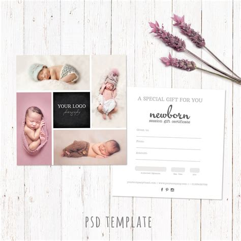 Gift Certificate Template Newborn Session Photography Gift Gift Certificate For Photography Session Templates