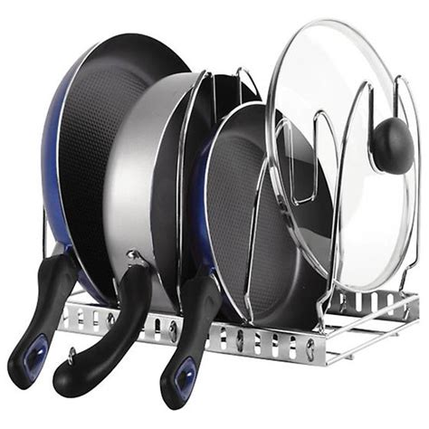 lower kitchen cabinet organizers chrome cookware organizer the container store