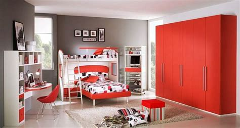 bedroom kids bedroom  red color pictures  boys