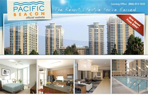 Average Rent For 1 Bedroom Apartment pacific beacon specials
