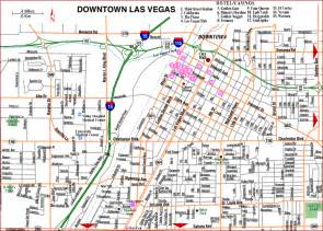 Map Las Vegas Nv by Road Map Of Las Vegas Downtown Las Vegas Nevada