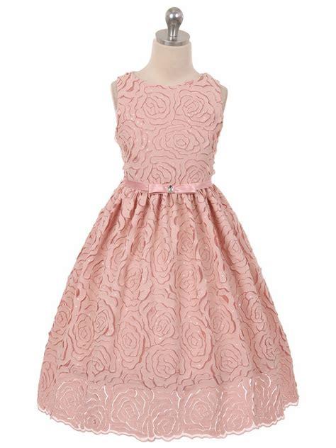 Dhanny Virna Dusty Pink Ay dusty vintage rosette dress w bow