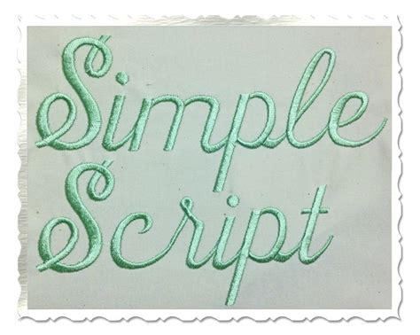 embroidery letters simple script machine embroidery font alphabet 3 sizes