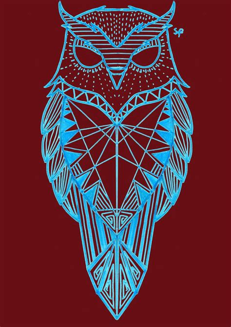 geometric owl tattoo best 25 geometric owl ideas on