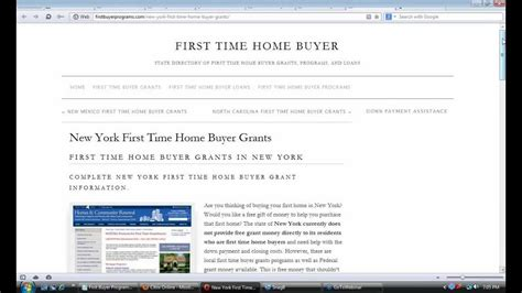 new york time home buyer grants