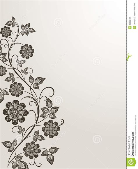side designs vintage flower side design royalty free stock images