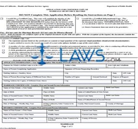 Record Of Divorce Form Michigan Form Ca Application For Certified Copy Of Marriage Or