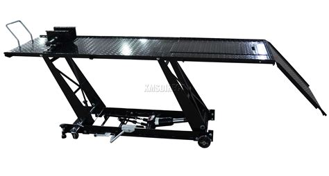 motorcycle lift bench foxhunter blk hydraulic bike motorcycle motorbike lift